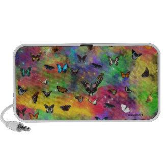 Doodle de OrigAudio™ with butterflies Notebook Speaker