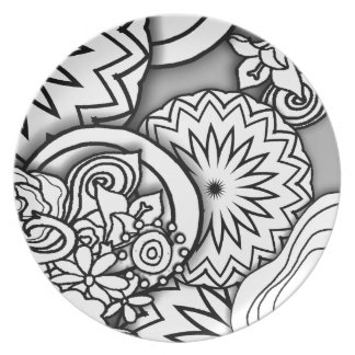 Doodle Depth Series Party Plates
