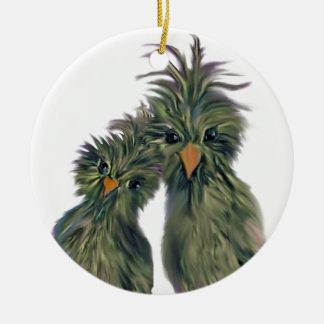 Doodle DODO Love Birds Ceramic Ornament