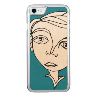 Doodle Face Carved iPhone 7 Case