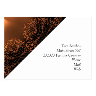 doodle fantasy golden. business card