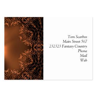 doodle fantasy golden. business card templates