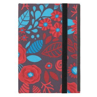 Doodle floral pattern cover for iPad mini