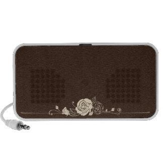 doodle flower laptop speakers