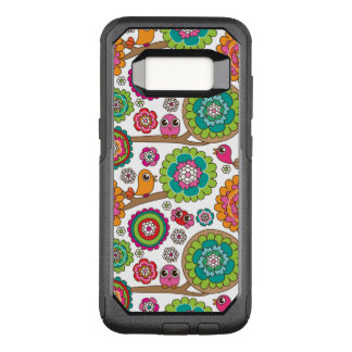 doodle flowers background pattern OtterBox commuter samsung galaxy s8 case