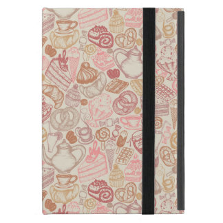 Doodle food pattern dessert iPad mini cover