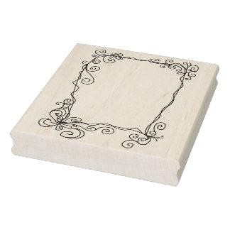 Doodle Frame Rubber Art Stamp