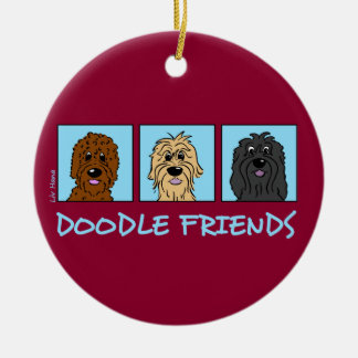 Doodle Friends Ceramic Ornament
