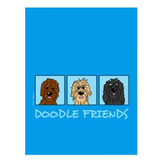 Doodle Friends Postcard