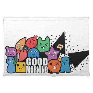 Doodle Good Morning Place Mats