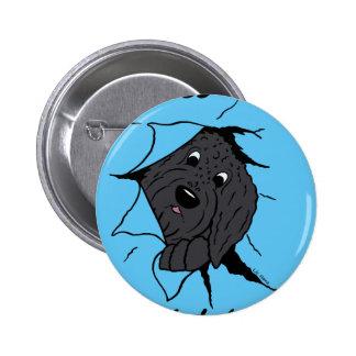 Doodle head black 2 inch round button