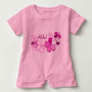 Doodle Hibiscus Hawaiian Aloha Baby Romper