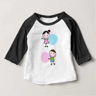 DOODLE KIDS WITH LABELS BABY T-Shirt