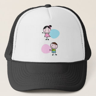 DOODLE KIDS WITH LABELS TRUCKER HAT