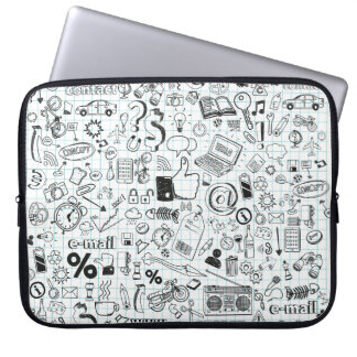 Doodle life laptop sleeve