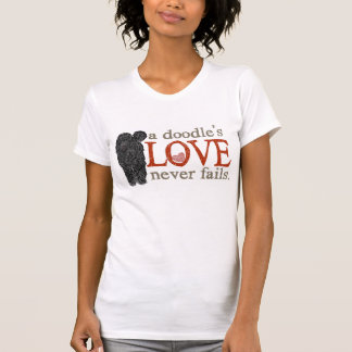Doodle Love Never Fails - Black Goldendoodle T-Shirt