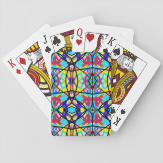Doodle Party Stained Glass Design Playing Cards