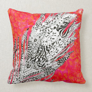 Doodle Peacock Feather Cushion