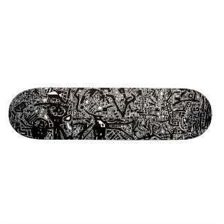 Doodle pig skate skateboard deck