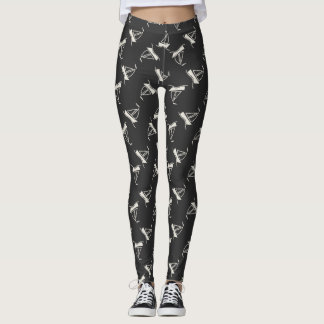 Doodle Sailboat Pattern Leggings