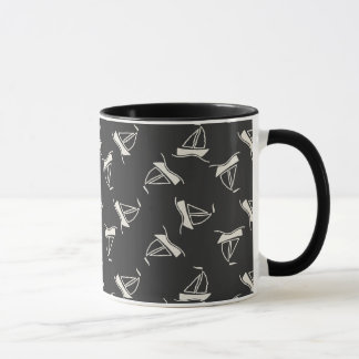 Doodle Sailboat Pattern Mug