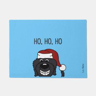Doodle Santa black Doormat