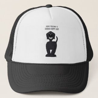 Doodle Smile black Trucker Hat