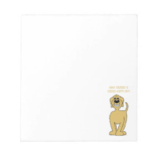 Doodle Smile blond Notepad