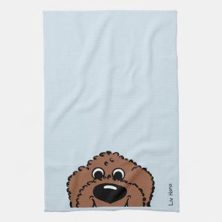 Doodle Smile brown Kitchen Towel