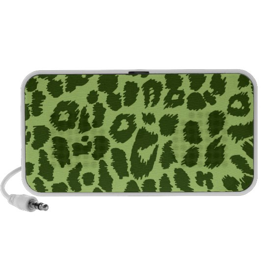Doodle Speaker - Green Leopard Print - Animal