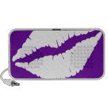Doodle Speaker - Purple & White Lips