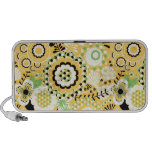 Doodle Speaker - Yellow & White Funky Retro Floral