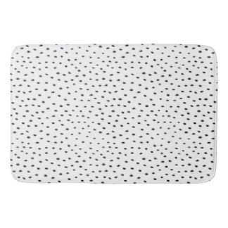 Doodle Spot Black & White Pattern Bath Mat