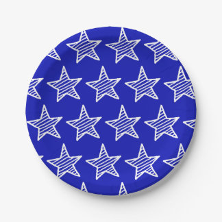 Doodle Stars and Stripes Paper Plate