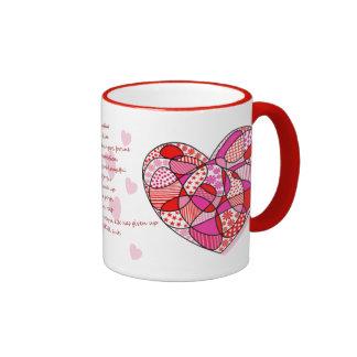 Doodle Sweetheart 1 Corinthians 13 Gift Mugs
