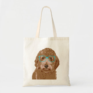 Doodle Wearing Glasses Tote