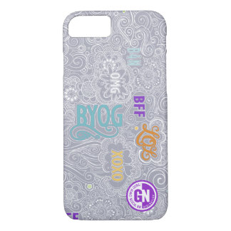 DoodleChat iPhone Case - Gray