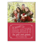 Doodled Banner Holiday Photo Cards