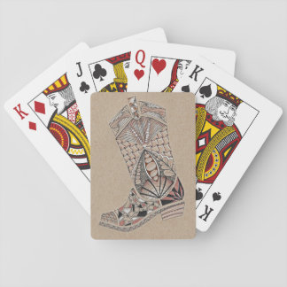 Doodled Cowboy Boot Playing Cards