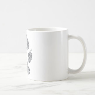 doodled coyote print coffee mug