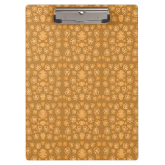 Doodled Flowers - Orange Clipboard