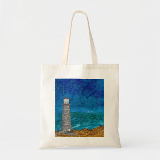 Doodled Lighthouse Tote