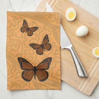 Doodled Monarch Hand Towel