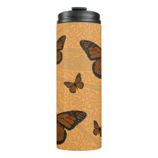 Doodled Monarch Thermal Tumbler