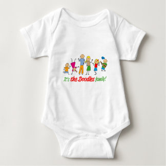Doodles family baby bodysuit