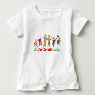 Doodles family baby romper