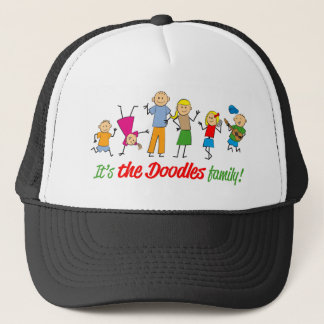 Doodles family trucker hat