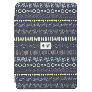 Doodles Pattern custom monogram device covers iPad Air Cover