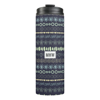 Doodles Pattern custom monogram tumbler