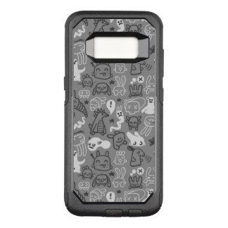 doodles pattern illustration OtterBox commuter samsung galaxy s8 case